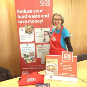 Deb at Love Food Hate Waste Food Event